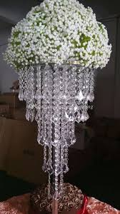 tall acrylic plastics bead wedding pillar flower stand vase centerpieces for aisle decoration ballerina party supplies balloon party decoration from