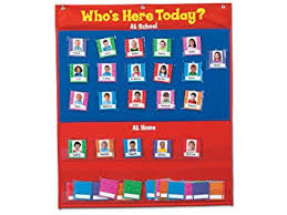 Whos Here Today Chart Whos Here Today Attendance Chart Amazon Co Uk Office