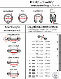 Body Jewelry Measurement Chart Fifth Cue Flat Disc Nose Hoop 316l Surgical Steel Ring