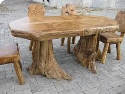 Solid Tree Trunk Dining Table