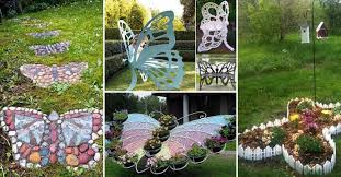 garden decorations. Truly Cool And Low-Budget Garden Decorations Inspired By Butterfly