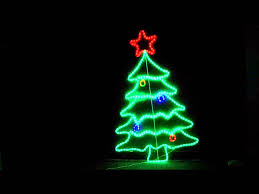 105cm Neon LED Christmas Tree Ropelight Display