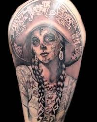 Awesome Santa Muerte Girl Tattoo In Mexican Style Tattoos Book