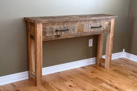 panel diy home depot cladding shelf amazing reclaimed wood wall table console thi i constructed from 120 year old local barnwood canada