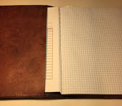 composition book cover custom leather