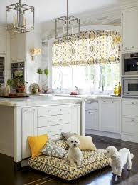 kitchen window lighting. White Kitchen Pops With Gray And Yellow Patterns Window Lighting