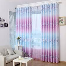 room darkening bedroom curtains in purple and blue color with fl pattern