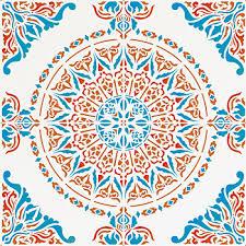 ... Perfect Moroccan Designs Large Moroccan Ornamental Tile Design Stencil  Full Repeat ...
