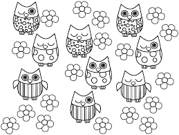 Free Printable Coloring Pages Owls Color Bros