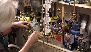 antique lighting chandelier restoration and repair