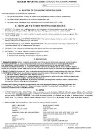 Cpd 63 451 Incident Reporting Guide 2011 January Chicagocop Com