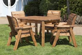uk made fully assembled heavy duty wooden patio garden dining set with rectangular table