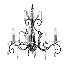 elstead amarilli 3 light chandelier black