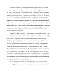 point of view in young goodman brown essays zoom zoom zoom
