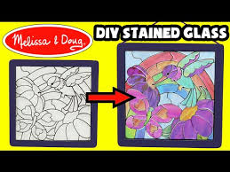 melissa doug l press stained glass kit diy kids arts crafts unboxing crafts you