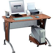 staples computer furniture. techni mobili computer desk dark honey rta8338 staples furniture t