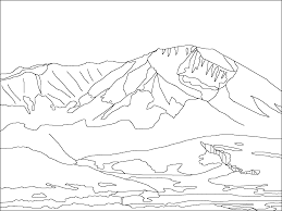 Small Picture Displaying Mountain Scene Coloring Pages Gekimoe 118229