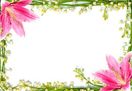 Small Picture Flowers page border clipart collection