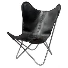 Black Leather Butterfly Chair - Free Shipping Today - Overstock.com -  15533944