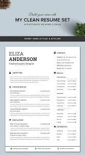 Modern Clean Resume Templates Modern Cv Word Clean Resume Template