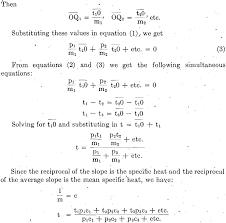 sensible heat capacity simultaneous equation