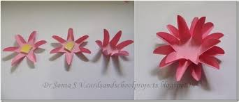 Chart Paper Flower Making Cards Crafts Kids Projects Easy Paper Flower Tutorial