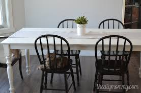 shabby chic farmhouse table with diy chalk paint