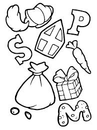Letter Snoepjes Cadeautjes Van Sinterklaas Kleurplaat Sint
