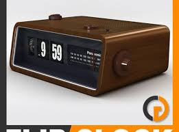 3d model retro style radio alarm f
