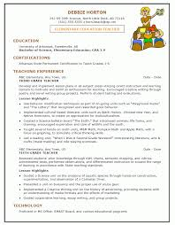 Cover Letter Elementary Teacher Resume Format Elementary School