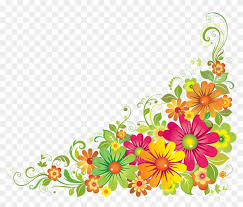 flower psd via flower border clipart 350323