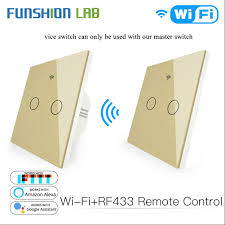 Funshion <b>WiFi</b> 2 Way Kit Smart Switch <b>RF433 Transmitter Wall</b> ...