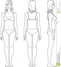 Clothes Design Sketch Model Female Template For Fashion Design Front Side Back Google
