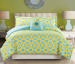 turquoise and yellow bedding. Simple Turquoise 8 Piece YellowBlue Print Bed In A Bag W600TC Cotton Sheet Set   Walmartcom Inside Turquoise And Yellow Bedding