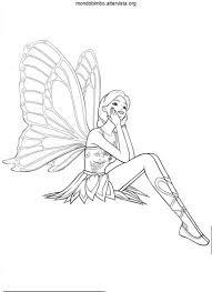 Barbie Mariposa Da Colorare Mondo Bimbo