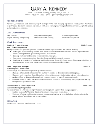 Project Management Resume Aerospace Medical Service Apprentice