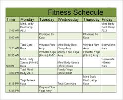 Flow Workout Chart Free 6 Sample Workout Schedules In Google Docs Ms Word