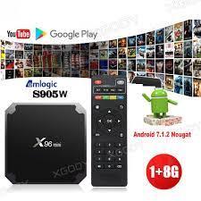 westernfertility.com Media Streamers Home Entertainment X96 Mini 4K Android  7.1.2 Nougat WiFi Smart TV Box with KODI 17.6 1G/8G S905W US