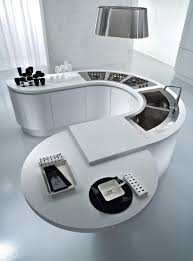 Modern Kitchen Countertop Kitchen Contemporary Curved Kitchen Countertop Design With White