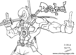 Small Picture deadpool fuck you Coloring pages Printable
