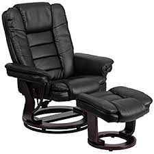 black leather massage chair. flash furniture contemporary black leather recliner and ottoman with swiveling mahogany wood base massage chair