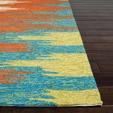 orange outdoor rug bright canada round