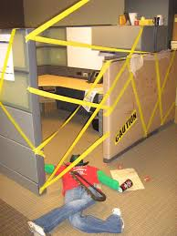halloween ideas for the office. happy halloween we had a cubicle decorating contest at the office crime scene ideas for