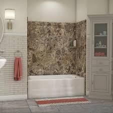 flexstone 60 x 32 breccia paradiso elite bathtub surround