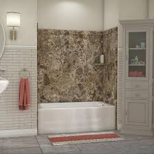 flexstone 60 x 32 breccia paradiso elite bathtub surround