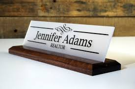 graduation gift wood desk sign personalized desk name plate employee gift professional wood sign 10 x 2 5