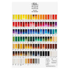 Astm Color Chart Winsor Newton Artists Oil Paint Hand Painted Color Chart