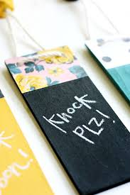 Decorative Door Hangers Decorative Chalkboard Door Hangers Diycandycom