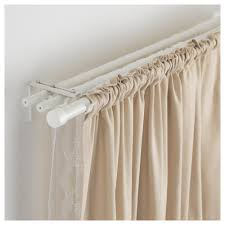 rÄcka hugad triple curtain rod combination white min length 82 5