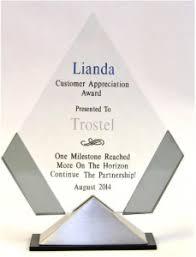 Supplier Recognizes Trostel With Lianda Customer Appreciation Award